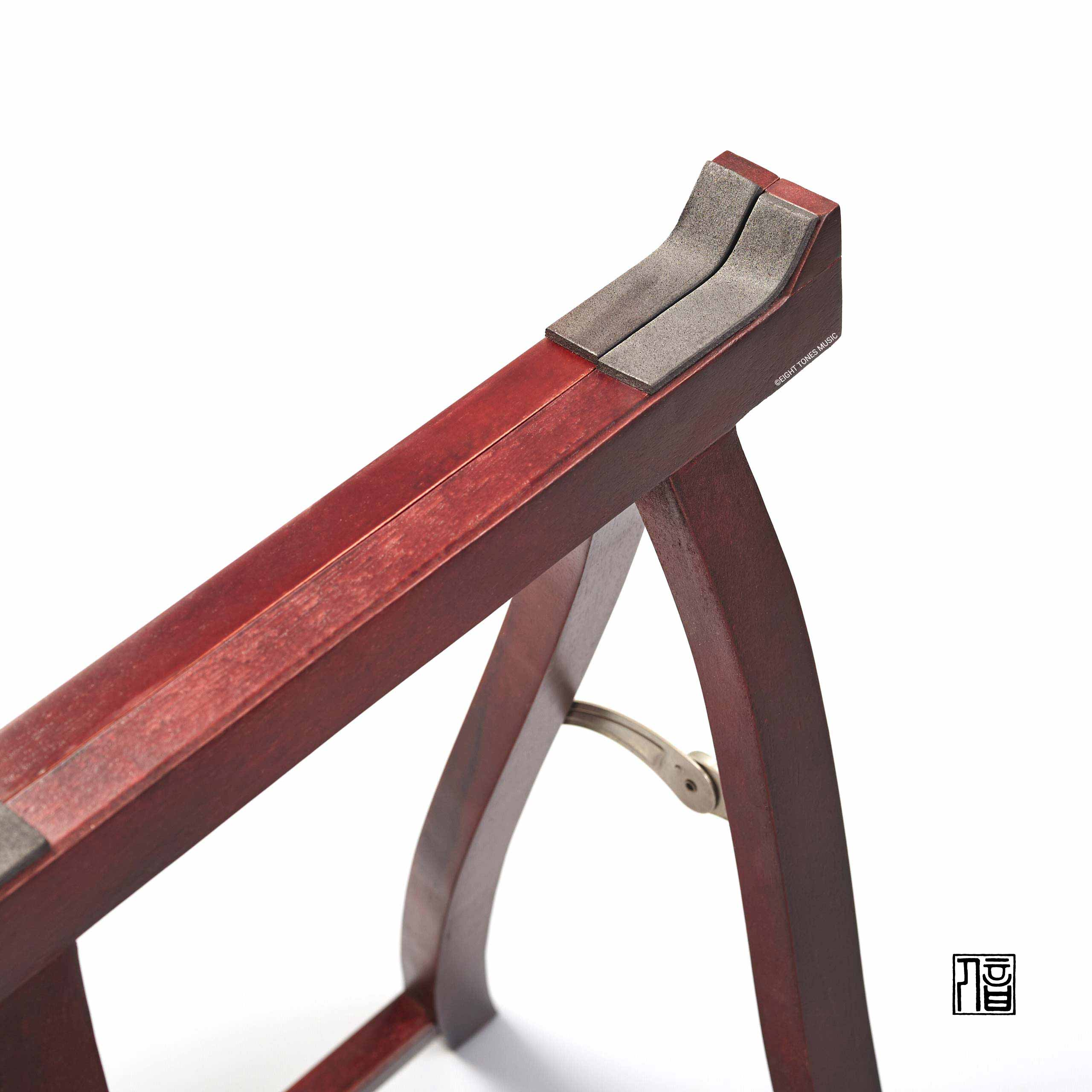 Guzheng Stand with Metal Hinge Close Up